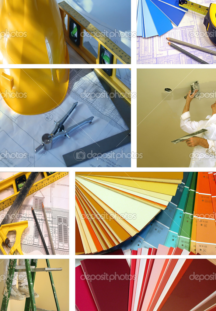 Collage of various photos for construction and home improvement — Stock Photo #3286286