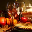 Elegant Festive table - Foto Stock