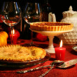 Festive desserts - Foto Stock
