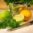 Parsley and citris fruit - Foto Stock