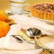 Pecan pie dessert — Stock Photo