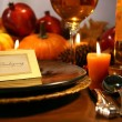 Thanksgiving place setting - Foto de Stock