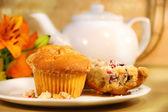 Kahvaltı için yabanmersini muffins — Stok fotoğraf
