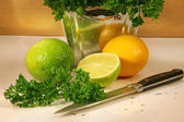 Parsley and citris fruit — Stock Photo