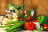 Veggies on the counter — Stock Photo