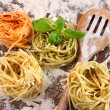 Stock Photo: Uncooked italipastin three colours