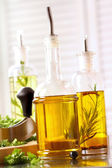Assortment of olive oils — Stock Photo