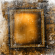 Stock Photo: Guilded frame on grunge background