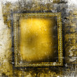 Guilded frame on grunge background — Stock Photo