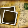Vintage postcard with grungy background — Stock Photo