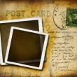 Vintage postcard with grungy background - Stok fotoğraf