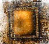 Guilded frame on grunge background — Stock Photo