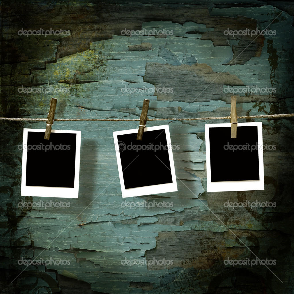 Polaroid pictures  against old crackled backdrop — Stock Photo #3343961