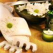 Spa essentials for foot care hygiene - Stok fotoğraf