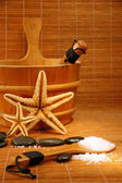 Sauna and spa treatment — Stock Photo