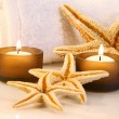 Little brown candles — Stock Photo