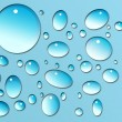 Water drops on blue - Stockfoto