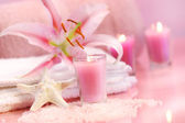 Pink soothing spa feeling — Stock Photo