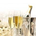 taças de champanhe para um casamento — Foto Stock