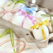 Eggs with ribbons ready for Easter — Stock Photo #3402432