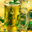 St Patrick's Day green beer - Stock Photo