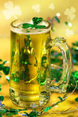 St Patrick's Day green beer — Стоковое фото