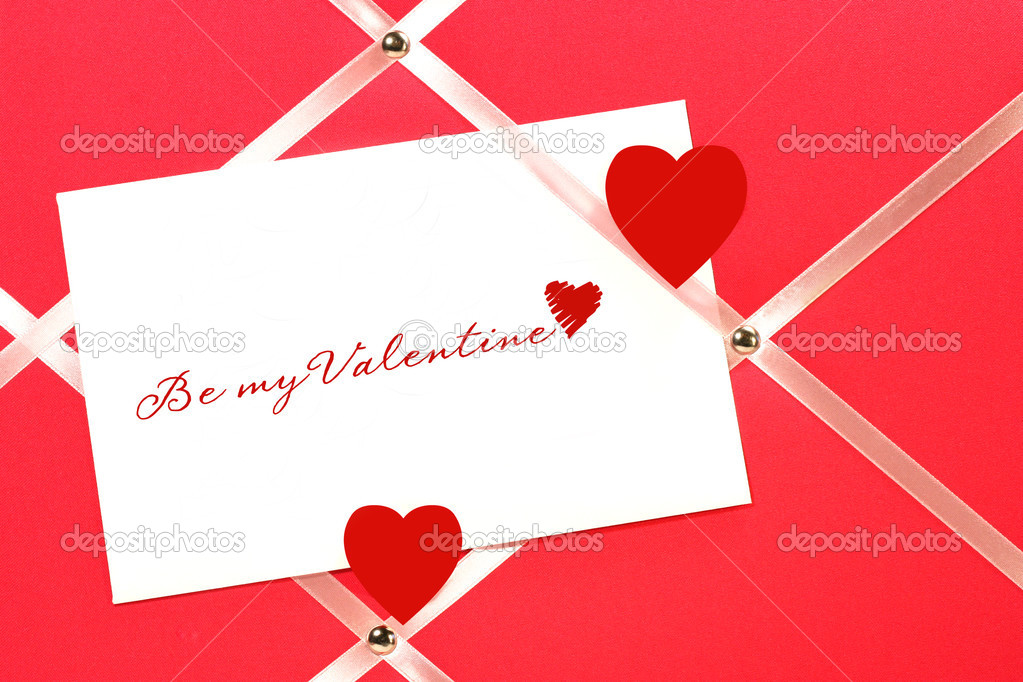I love you on white paper with hearts — Stock Photo #3402462
