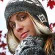 Young woman with winter hat — Stock Photo #3450122