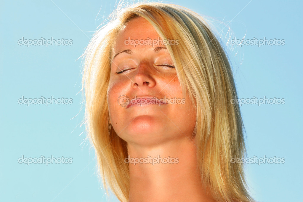 Young woman having a beautiful zen moment  Stock Photo #3450083