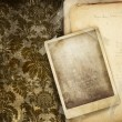 Vintage floral background with old papers — Photo
