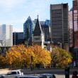 Stock Photo: Montreal downtown in fall.