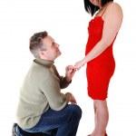 A man proposing. — Stock Photo