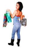 Young woman shopping. — Stock Photo