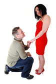 A man proposing. — Stock Photo