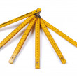 Yellow wooden ruler. — Stok fotoğraf