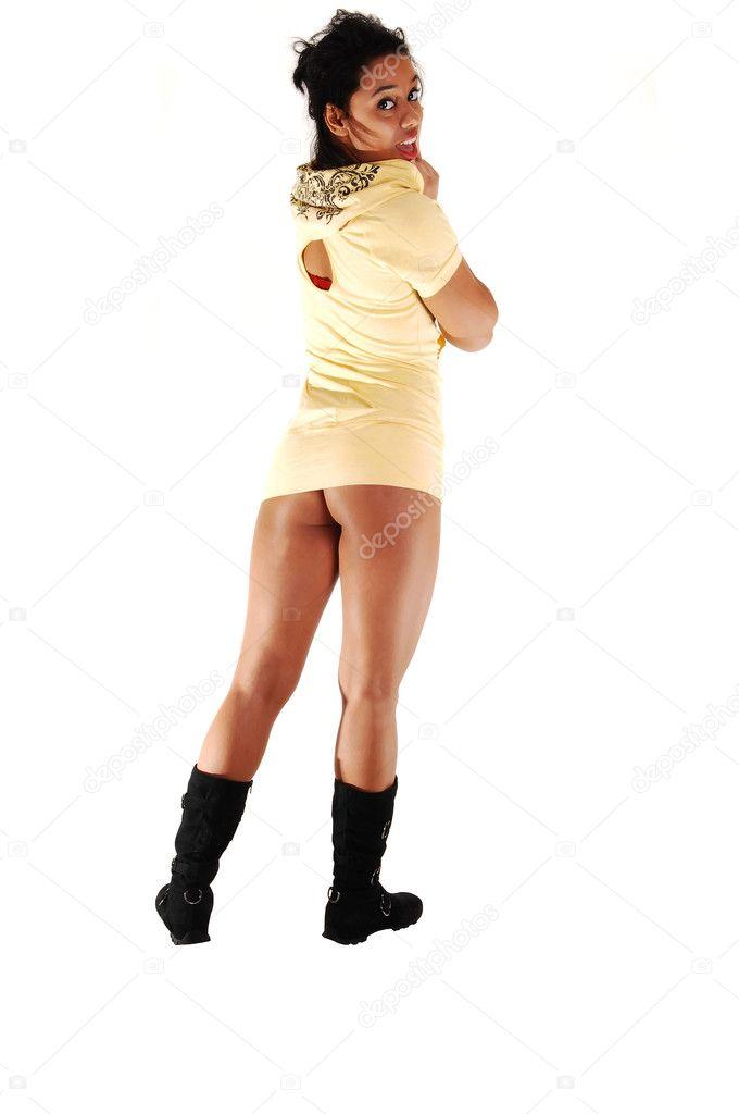 Pretty Hispanic girl standing. — Stock Photo © sucher #3408166