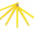 Yellow wooden ruler. — Foto Stock