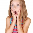 Young girl is scared. — Stock Photo