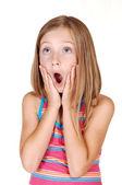 Mladá dívka se bojí. — Stock fotografie