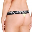Nice round butt with thong. — Stock Photo