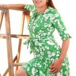 Girl in green dress. — Stock Photo #3486310