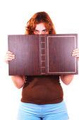 Libro di detenzione donna. — Foto Stock