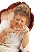Worried senior woman. — Stock Photo