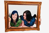 Two girls in frame. — Stock Photo
