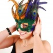 A lovely woman with a mask. — Stockfoto
