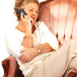 Senior woman on the phone. - Foto Stock