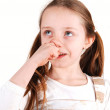 Royalty-Free Stock Photo: Girl with finger in nose.