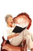 Senior woman reading. — Stock Photo