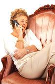 Senior woman on the phone. — Stock Photo