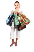 молодая женщина покупок. — Стоковое фото